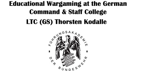 Educational Wargaming at the German Command & Staff College tickets
