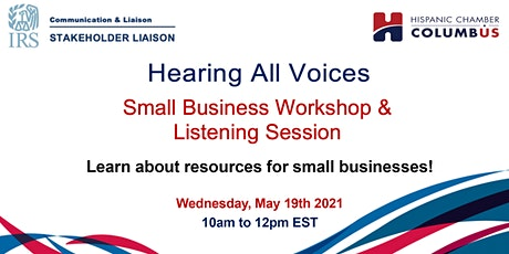 IRS Hearing All Voices Small Business Meeting tickets