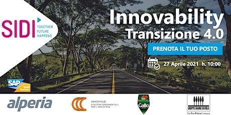 INNOVABILITY: TRANSIZIONE 4.0 biglietti