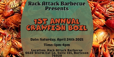 1st Annual Crawfish Boil tickets