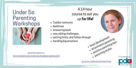 Positive Parenting for toddlers and pre-schoolers (7 workshops) tickets