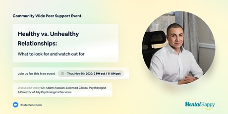How Relationships Impact Your Mental Health (Peer Group Support Discussion) tickets
