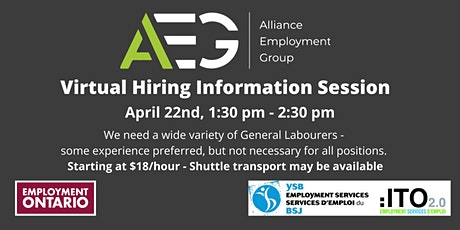 Alliance Employment Group - Hiring Information Session tickets