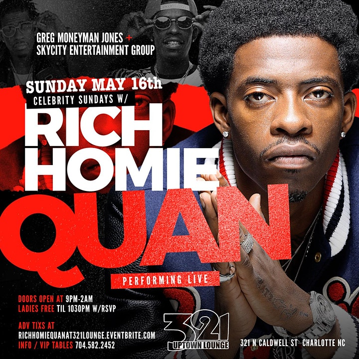 RICH HOMIE QUAN PERFORMING LIVE  IN CHARLOTTE @ 321 LOUNGE image