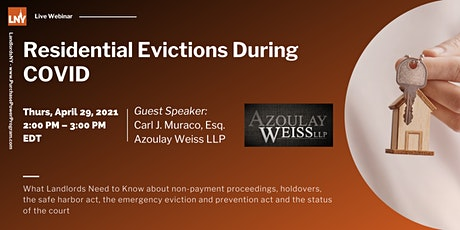 Residential Evictions During Covid: What Landlords Need to Know tickets