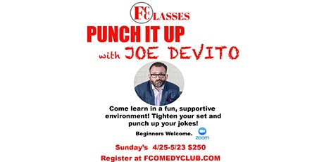 Punch It Up - Stand Up Comedy Writing Class with Joe Devito tickets