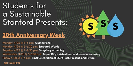Students for a Sustainable Stanford 20th Anniversary Celebration tickets