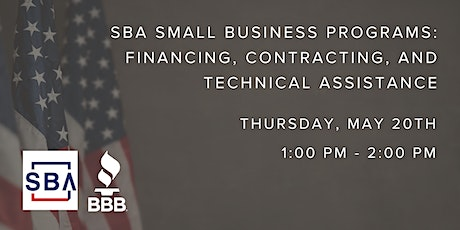 SBA Small Business Programs: Financing, Contracting, & Technical Assistance tickets
