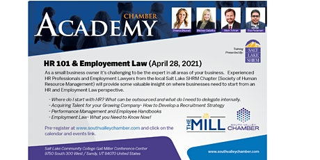 South Valley Chamber HR 101 and Employment Law Business Academy tickets