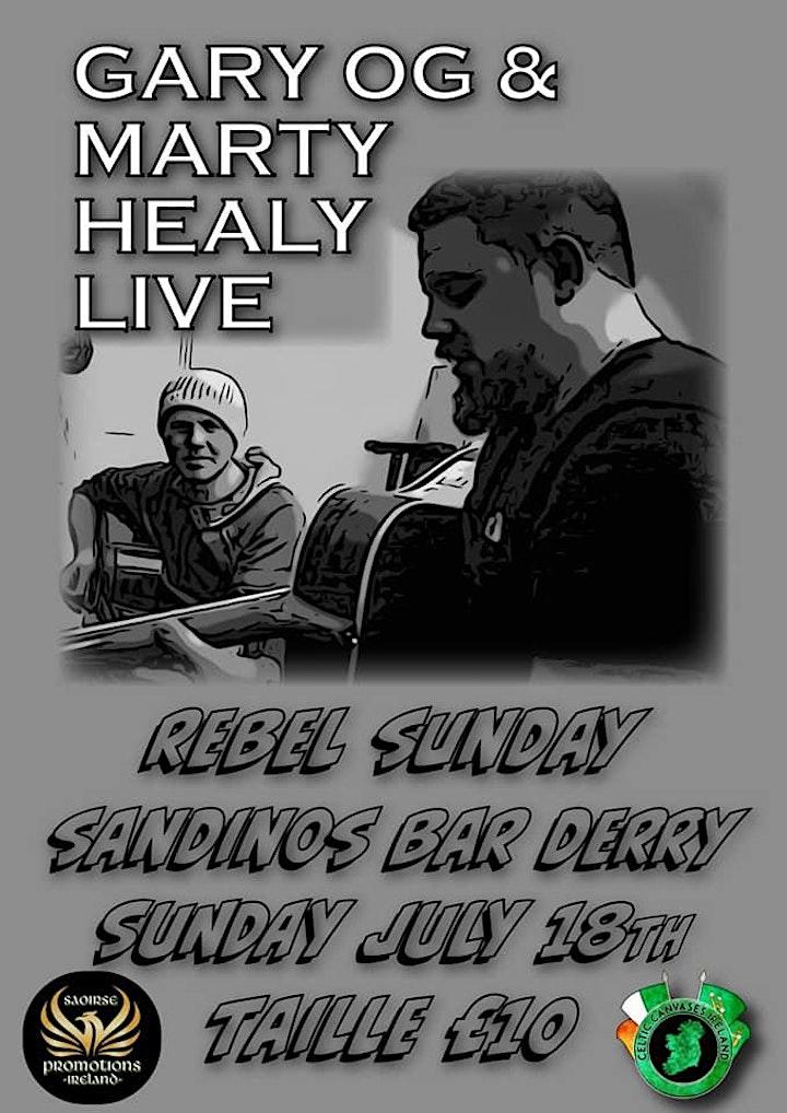 Gary Óg & Marty Healy - Live in Sandinos image