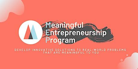 Meaningful Entrepreneurship Program INFO & PROJECTS interactive Webinar #1 tickets