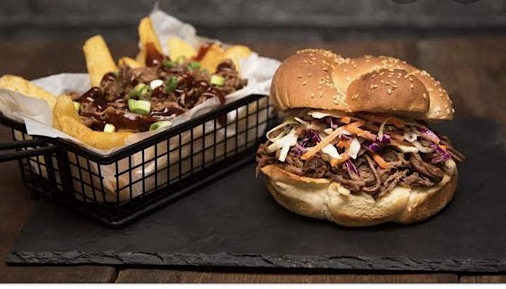 CFA Donation Burgers. Pulled Pork Plus Beef Brisket Sliders And Live Music image