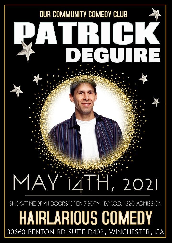HAIRlarious Comedy Show W/ Patrick DeGuire & Friends image