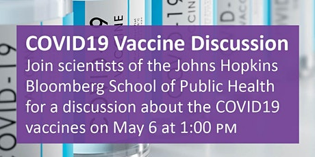 COVID19 Vaccine Discussion - virtual tickets