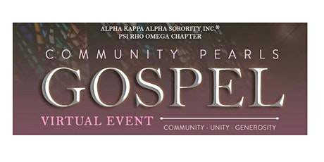 Community Pearls Gospel Virtual Event tickets