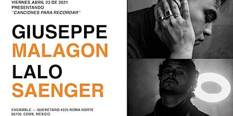 'Canciones Para Recordar' por Giuseppe Malagon Feat. Lalo Saenger boletos