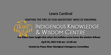 Presentation by Lewis Cardinal tickets