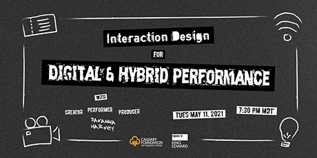 Interaction Design for Digital and Hybrid Performance tickets