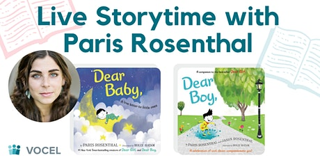 Virtual Storytime with Children's Author, Paris Rosenthal tickets