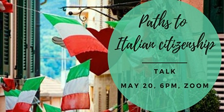 Paths to Italian citizenship (members only) tickets