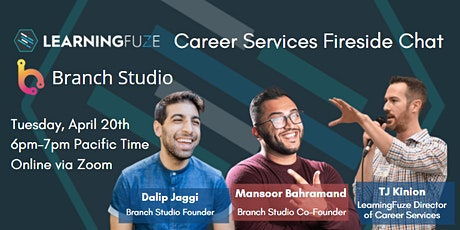Fireside Chat with Dalip Jaggi & Mansoor Bahramand - Branch Studio Founders tickets