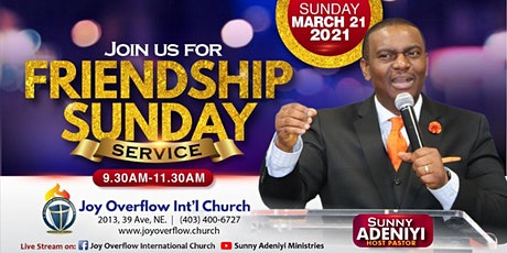 April 2021 Friendship Sunday & Impartation Service tickets