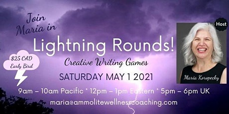 Lightning Rounds --> Let's Play Creative Writing Games Online! tickets