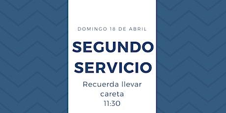 Segundo Servicio Presencial 18 de Abril entradas