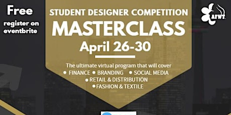 STUDENT DESIGNER COMPETITION - MASTERCLASS - DAY 5:  BRANDING tickets