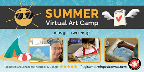 Watercolour Painting Camp (5+) - LIVE Summer Virtual Art Camp tickets