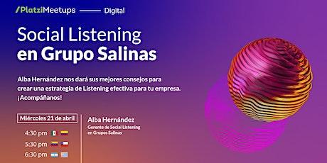 Social Listening en Grupo Salinas tickets