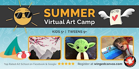 Acrylic Painting Camp (5+) - LIVE Summer Virtual Art Camp tickets