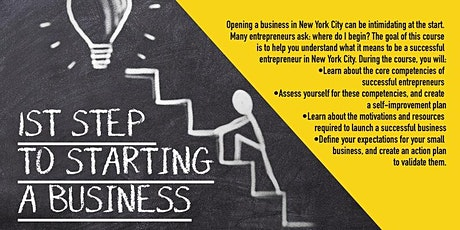 Webinar  First Steps To Starting A Business, Upper Manhattan, 5/4/2021 tickets