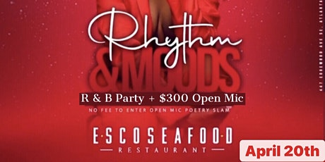 RHYTHM & MOODS  - R&B Party +  $300 Open Mic Night tickets