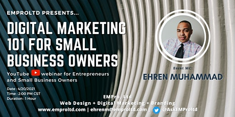 Digital Marketing 101 for Small Business Owners tickets