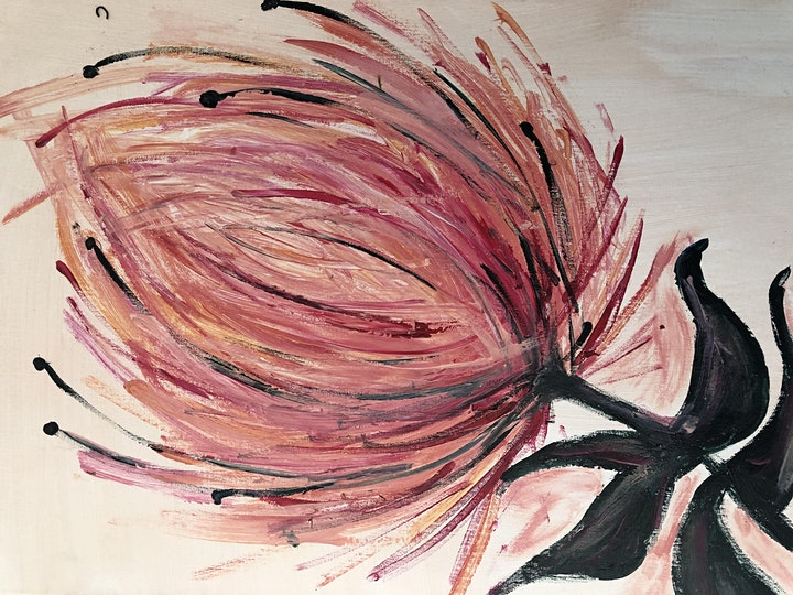 Rose and Renoir - Learn to paint- king  Protea image