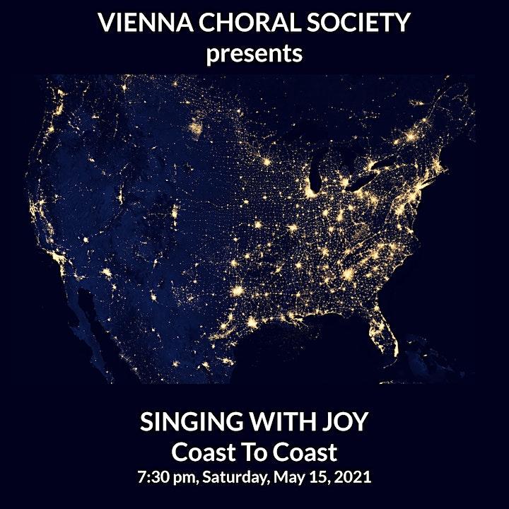 SINGING WITH JOY: COAST TO COAST -- VCS' May 2021 Virtual Concert image