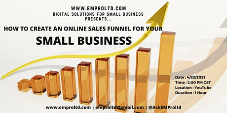 How to create an Online sales funnel for your small business tickets