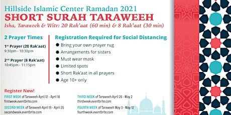 2nd Week Taraweeh  Registration - HIC Ramadan 2021 tickets