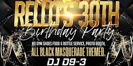 Rello's all black masquerade tickets