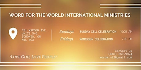 Word Toronto Sunday Celebration tickets