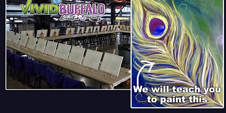 Peacock Feather Paint Night at Buffalo RiverWorks tickets
