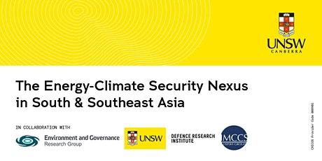The Energy-Climate Security Nexus in South & Southeast Asia tickets