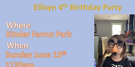 Ellisyn Birthday tickets