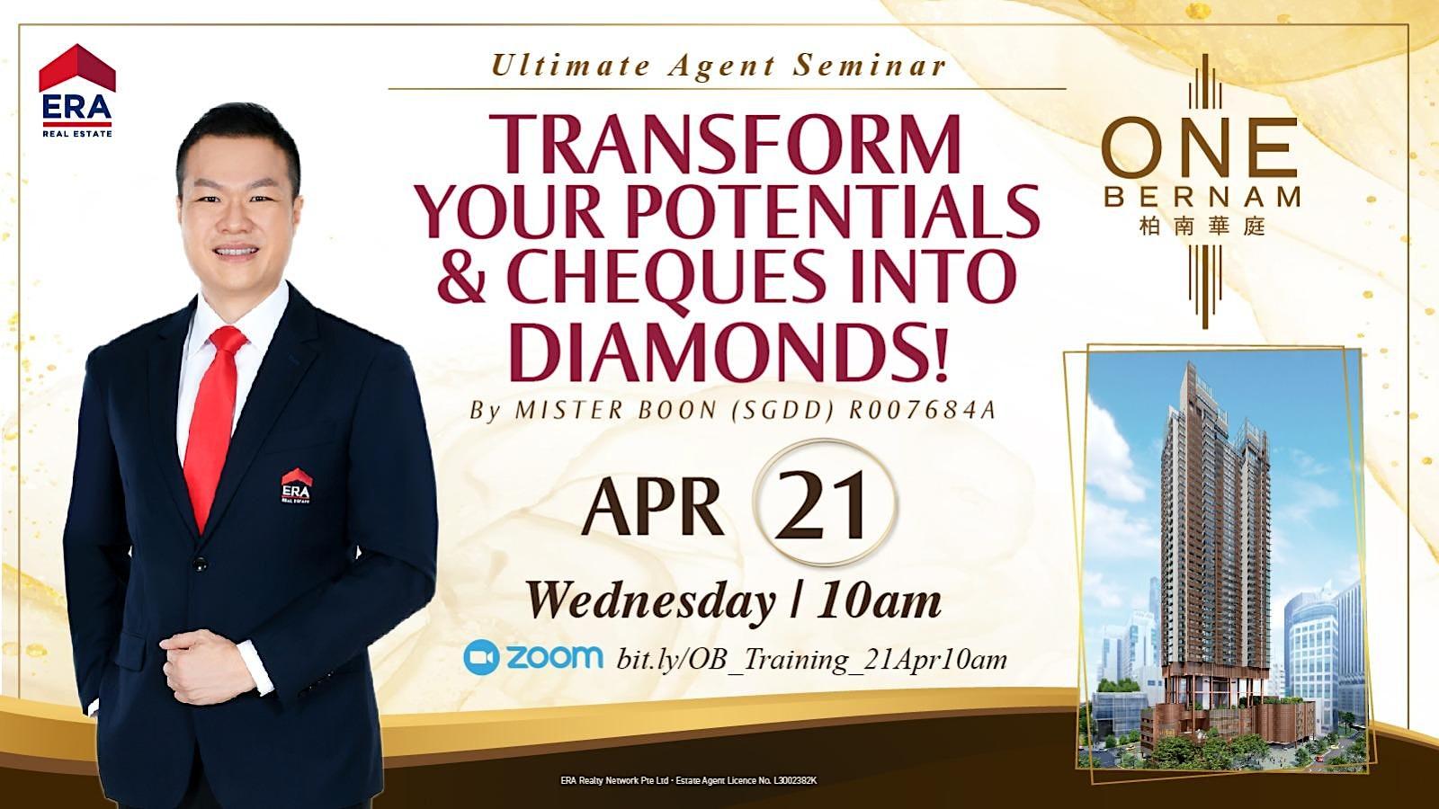 Transform Your Potentials & Cheques Into Diamonds! (One Bernam)