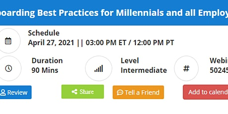 Onboarding Best Practices for Millennials and all Employees tickets