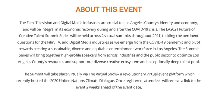 LA2021: Future of Creative Talent Summit 1 image