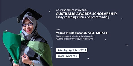 AUSTRALIA AWARDS SCHOLARSHIP essay coaching clinic and proofreading tickets