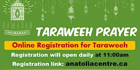 Taraweeh Prayer Registration at AIC tickets