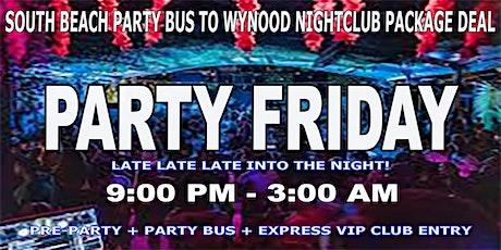 South Beach Party Bus To Wynwood Nightclub - Friday Nights tickets